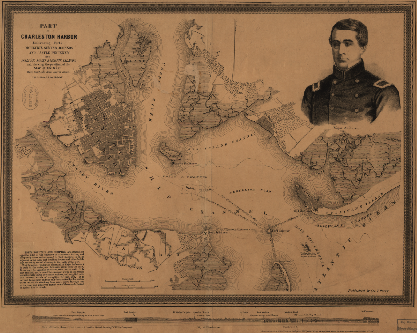 Perry Map of Charleston Harbor