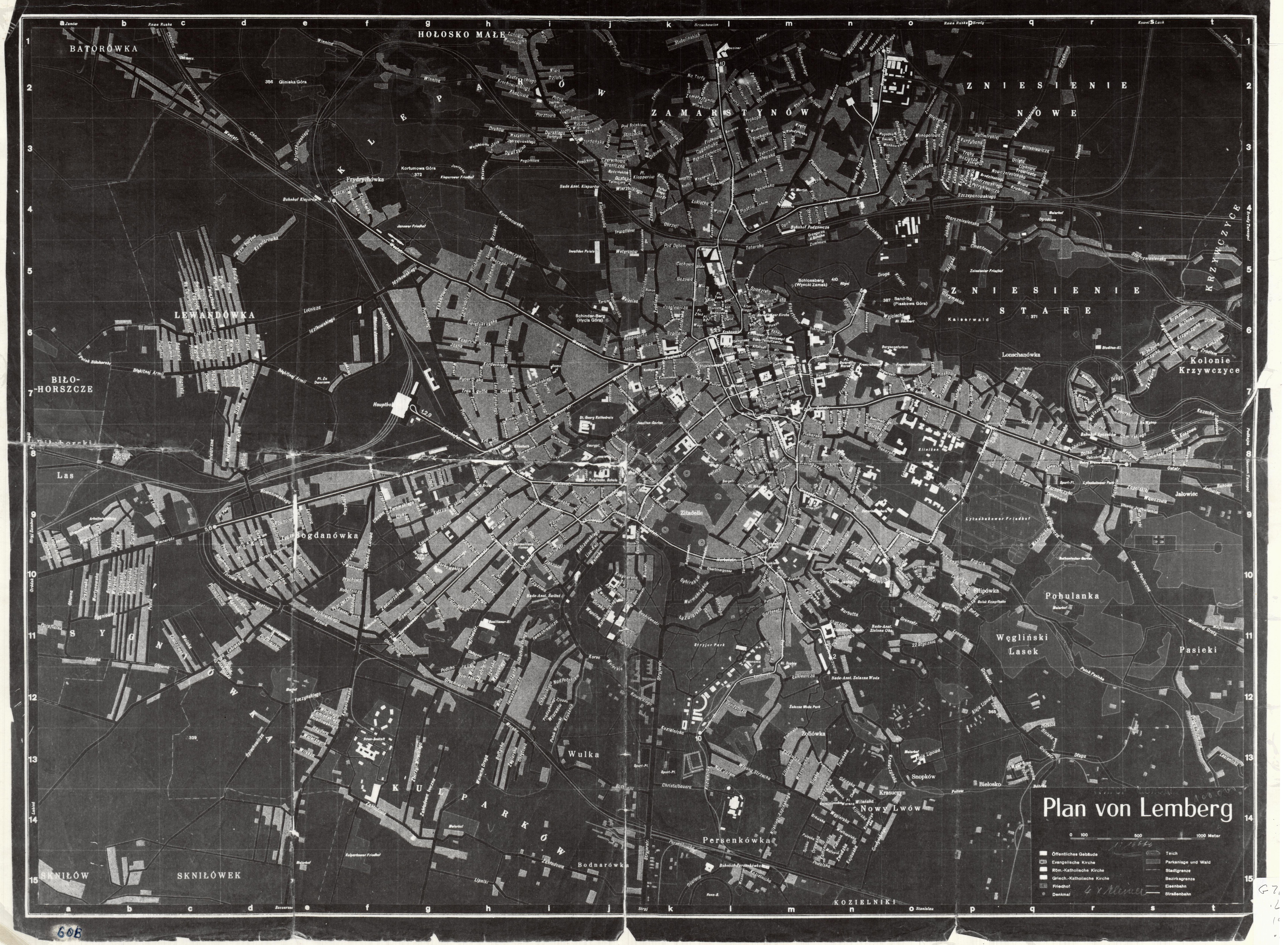 Lemberg. Created by German military, Berlin, 194-. Geography and Map Division, Library of Congress.