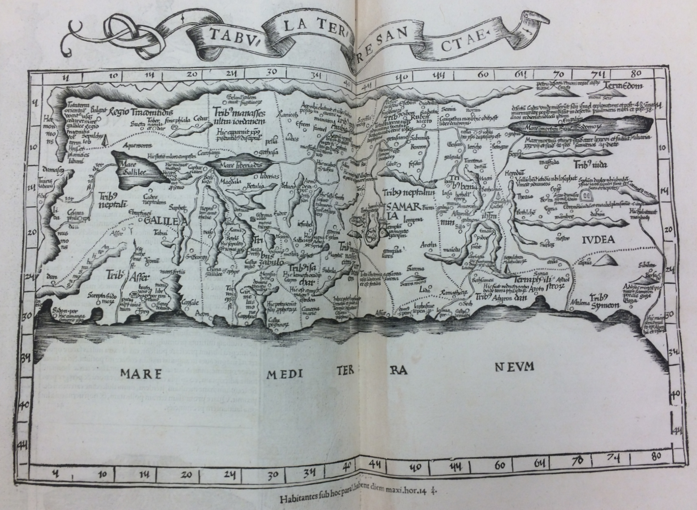 Map of Holy Land in Servetus atlas. Michael Servetus, 1535. Geography and Map Division, Library of Congress.