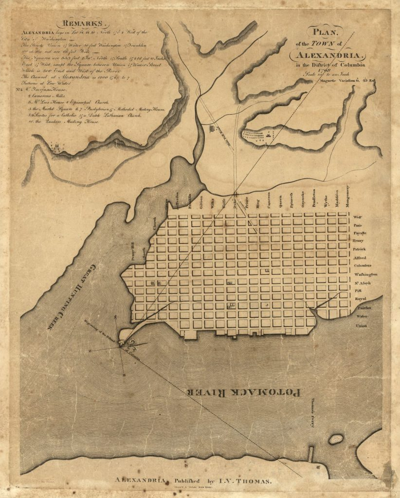 Plan of the town of Alexandria in the District of Columbia. George Gilpin, 1798. Geography and Map Division, Library of Congress.