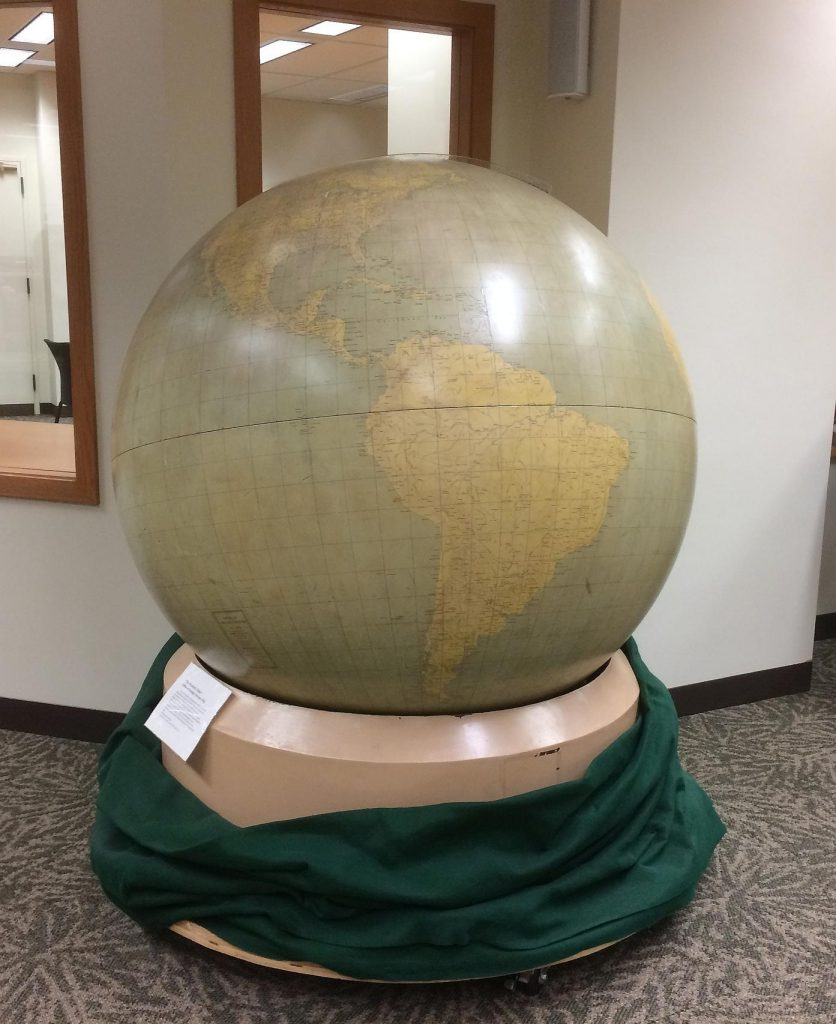 Military Globe by United States Office of Strategic Services, c1942. Geography and Map Division, Library of Congress.