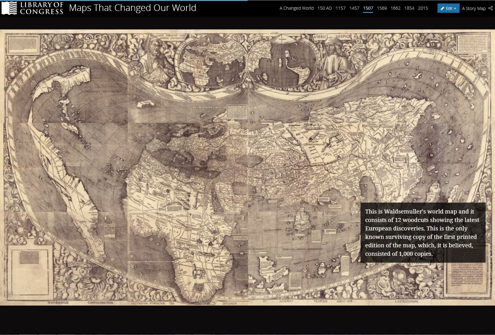 New story maps published worlds revealed geography maps at the screenshot of excerpt from maps that changed our world story map by julie stoner gumiabroncs Gallery