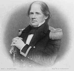 Portrait of Matthew Fontaine Maury in military uniform.