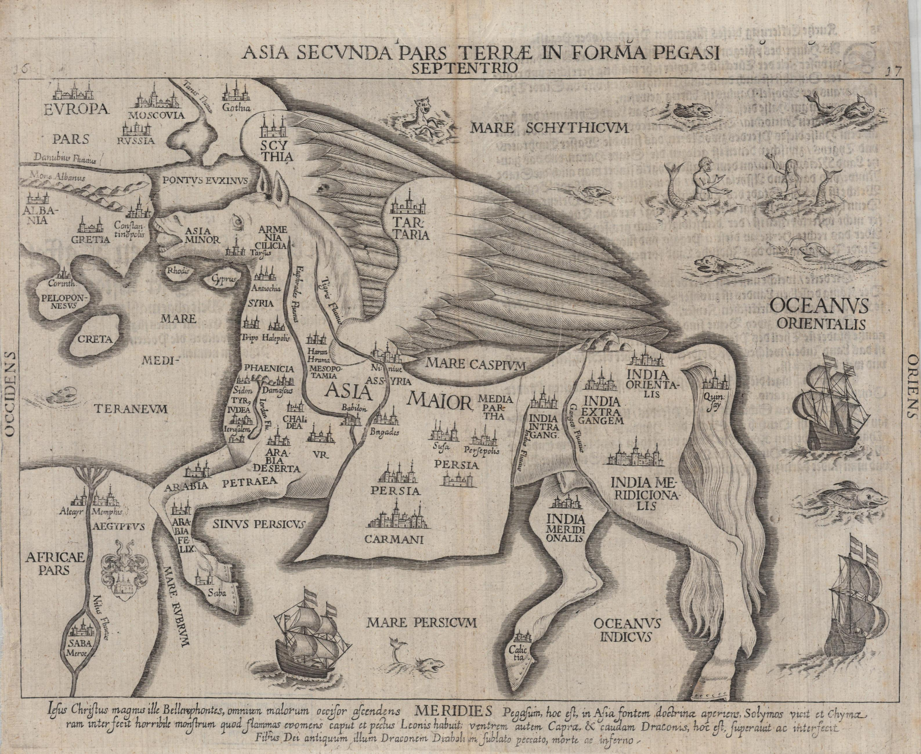 Asia Seunda Pars Terrae in Forma Pegasi, 1581. Hauslab-Liechtenstein Map Collection. Geography and Map Division, Library of Congress.