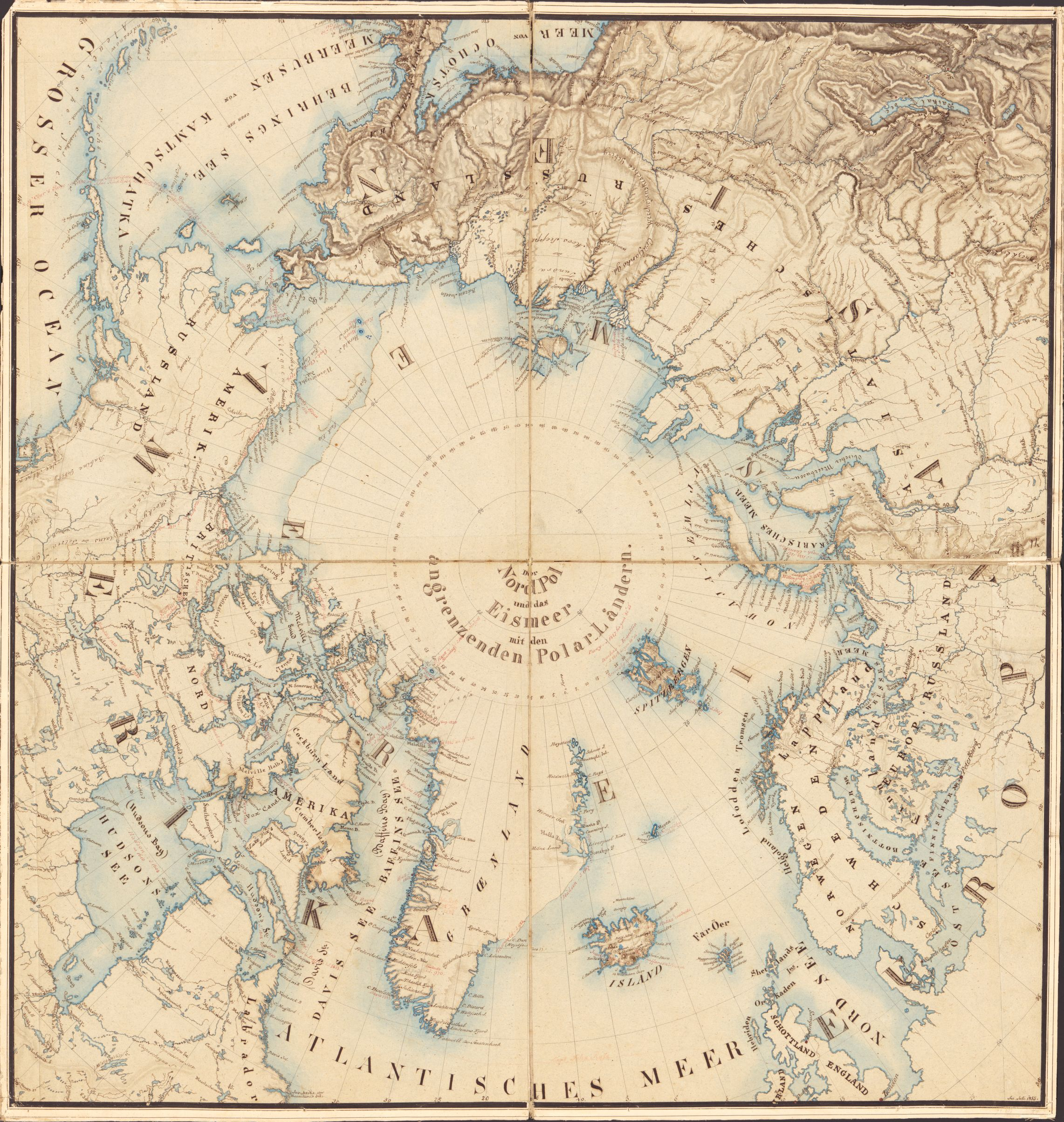 Map of the Arctic and adjacent regions. Sir John Ross, 1855. Geography and Map Division, Library of Congress.