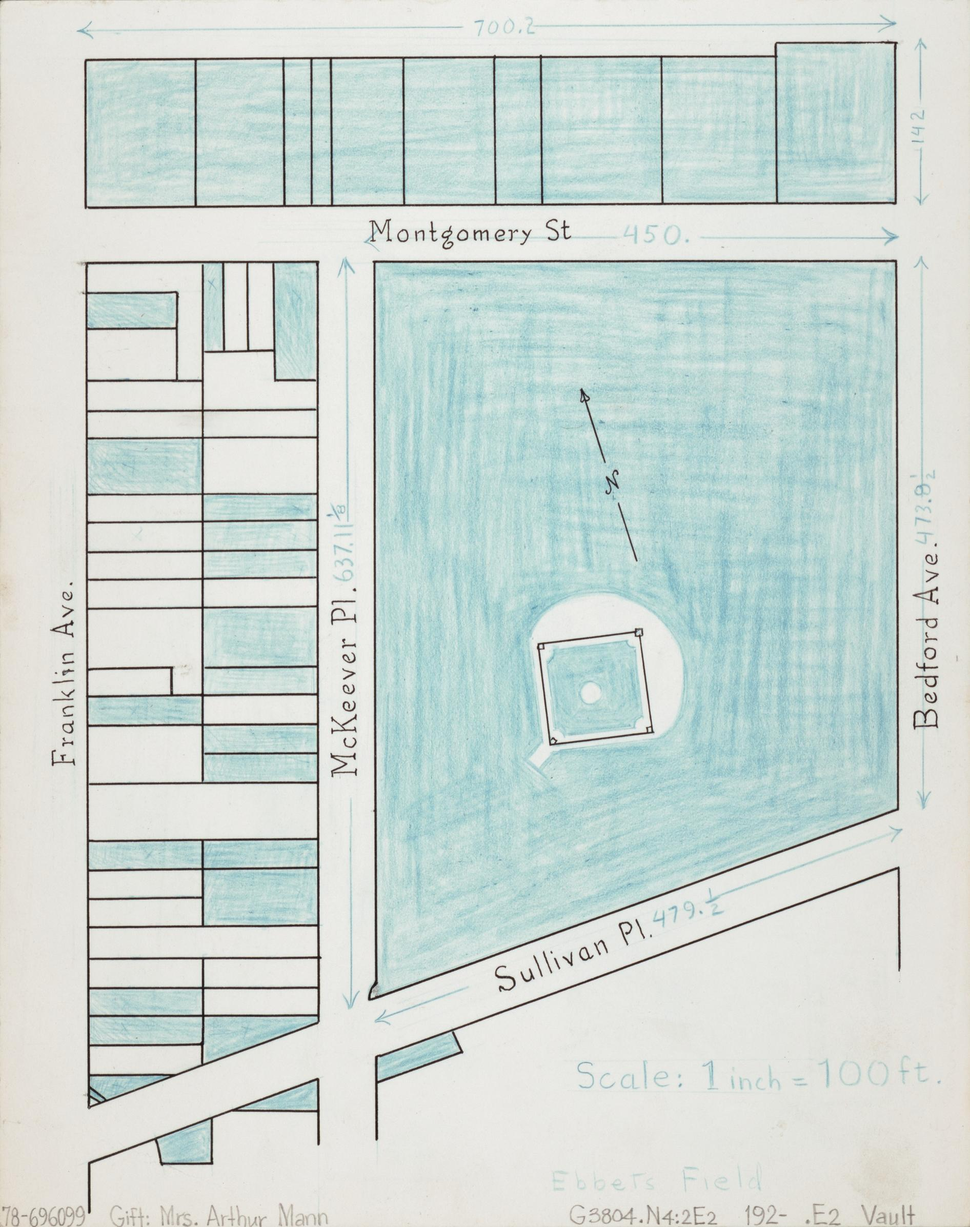 Ebbets Field. Arthur Mann, 192-. Geography and Map Division, Library of Congress.