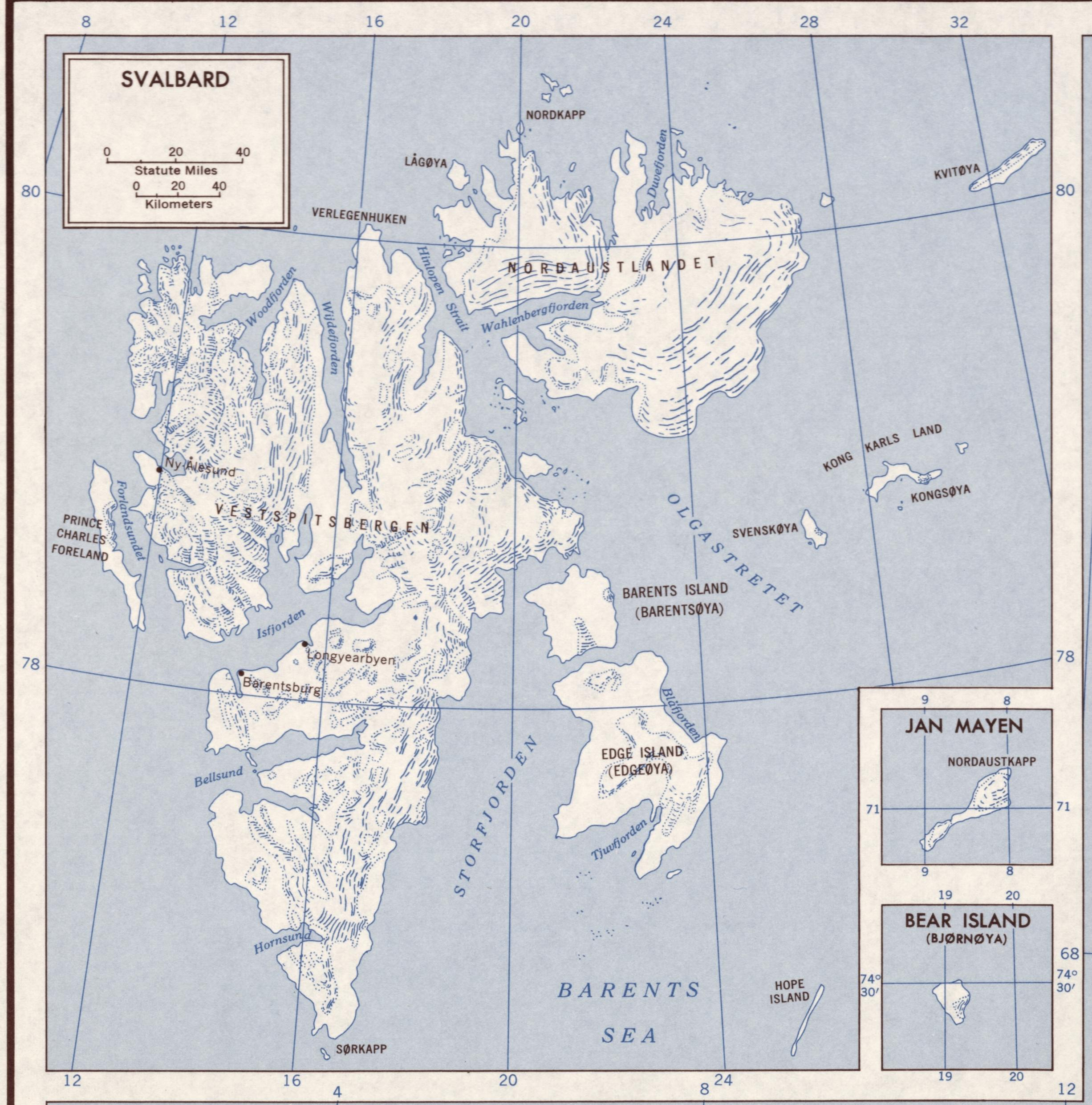 Inset of Norway. 6-62. CIA, 1962. Geography and Map Division, Library of Congress.