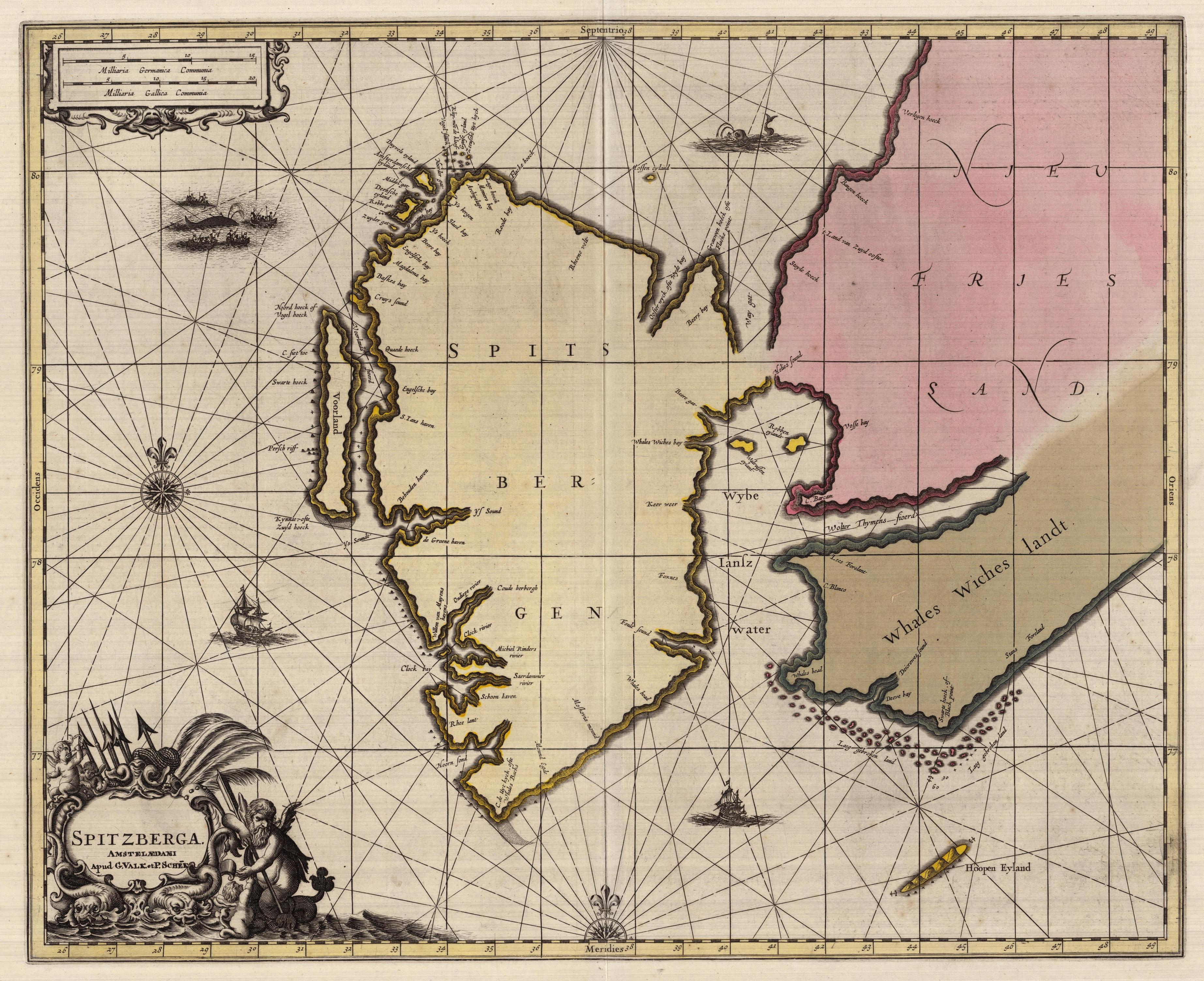 Spitzberga. G. Valk and P. Schek, 1690. Geography and Map Division, Library of Congress.