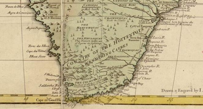 Detail from <em>Africa : corrected from the observations of the Royal Society at London and Paris</em>. [London : John Senex, 1725?] Geography and Map Division. LC call number G8200 1725 .S4