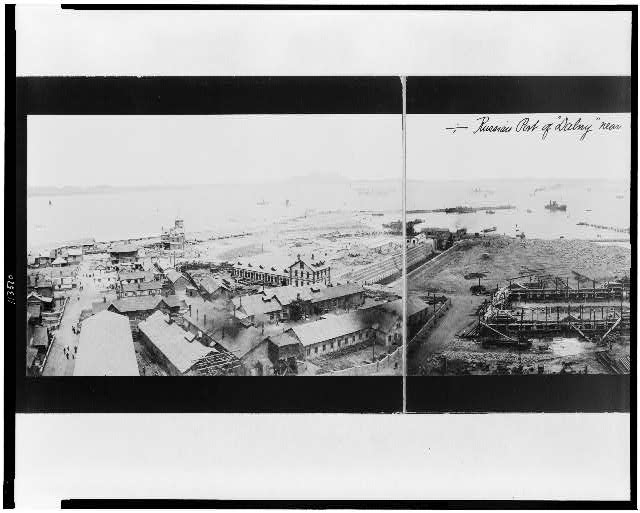 "Russian Port of ""Dalny"" Near Port Arthur, ca. 1898.  1 photographic print:   silver printing-out paper.  Prints and Photographs Division."