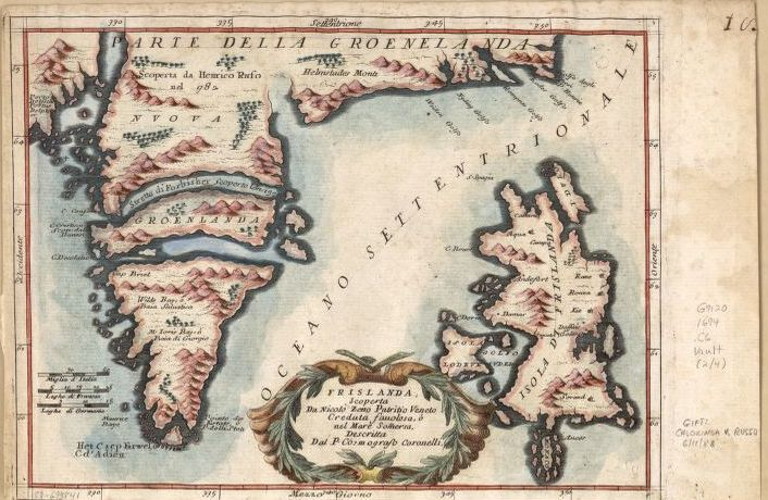 Maps of Bermuda, Iceland, Jan Mayen Island, and Newfoundland by Vincenzo Coronelli, 1692-1694. Geography and Map Division.