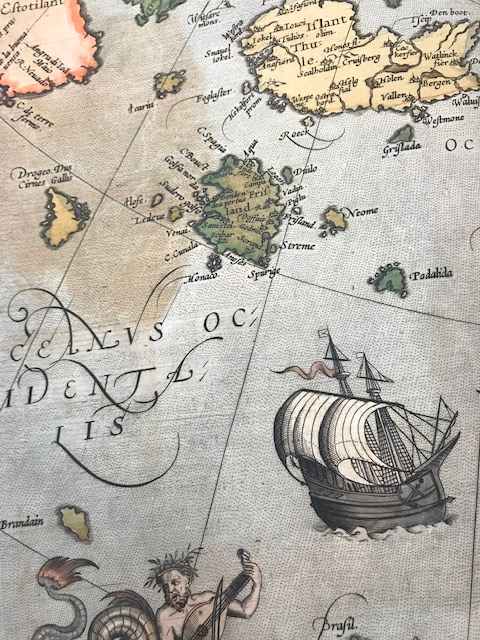 Detail of Frisland and surrounding area from plate 45 Scandia Sive Regiones Septentrionales from Theatrum Orbis Terrarum. by Abraham Ortelius, 1570. Geography and Map Division.