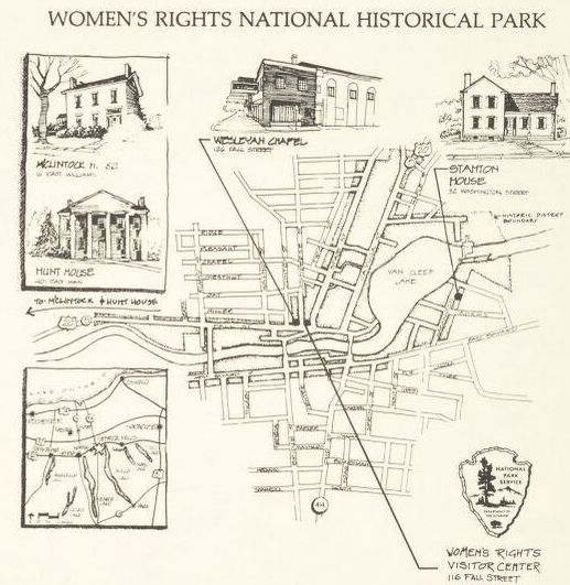 Women's Rights National Historical Park, Seneca Falls, New York. Map by United States National Park Service, 1991. Geography and Map Division.