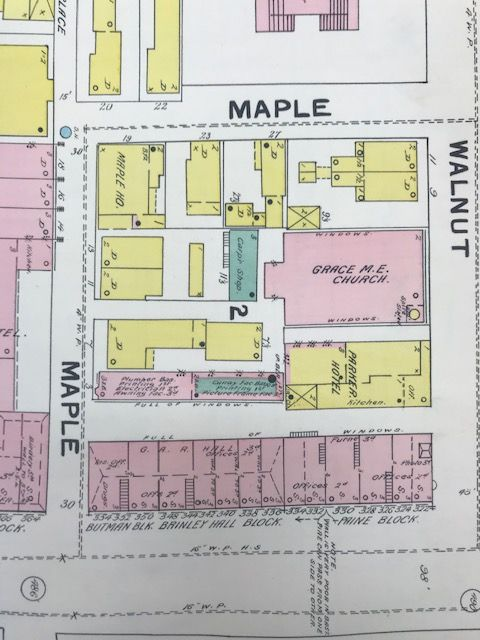 Detail of sheet 35, Fire Insurance map for Worcester, Massachusetts. Map by Sanborn Map Company, 1892. Geography and Map Division.