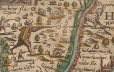 Detail from Virginia. Ralph Hall. 1636. Geography and Map Division.