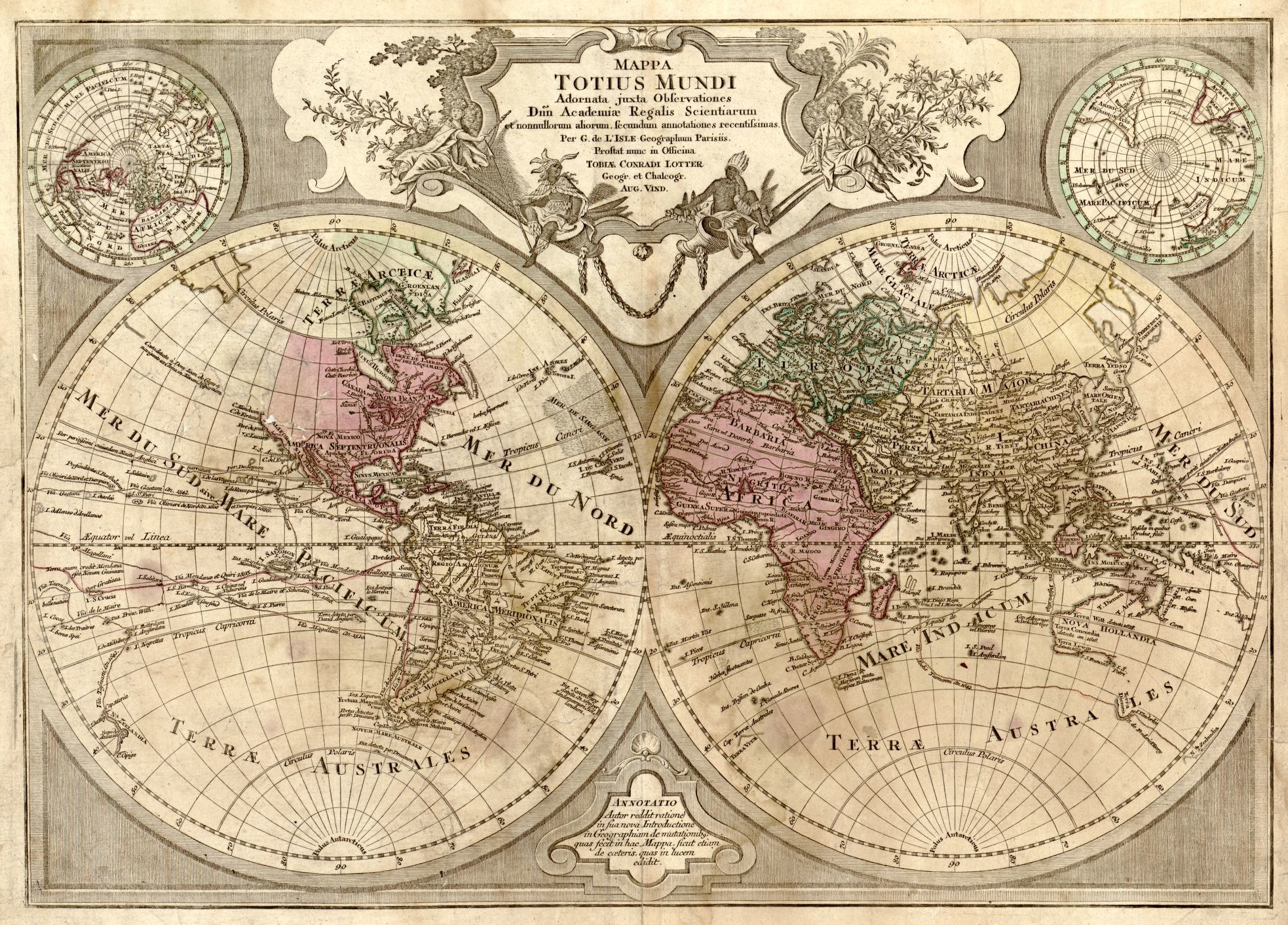 Map by Guillaume de L'Isle and Tobias Conrad Lotter, 1775.