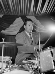 Portrait of Gene Krupa, 400 Restaurant, New York, N.Y., ca. June 1946 / William P. Gottlieb