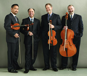The Alexander String Quartet. Photo by Rory Earnshaw.