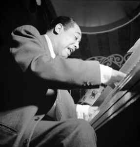 Portrait of Duke Ellington, Aquarium, New York, N.Y., between 1946 and 1948. By William P. Gottlieb.