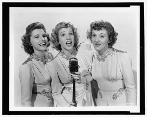 Publicity photograph of the andrews sisters 1943 patty andrews
