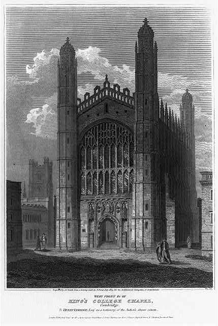 Westfront of King's College Chapel, Cambridge (Engraving by J.C. Smith), Prints and Photographs Division, Library of Congress