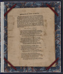 """Defence of Ft. McHenry"" by Francis Scott Key (Baltimore, 1814-first printing of poem), Music Division, Library of Congress"