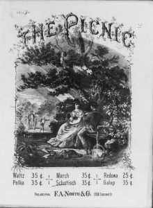 """Picnic Schottische."" Arranged by G.  Weingarten, Philadelphia: F.A. North, 1880"