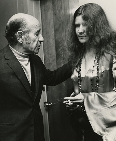Erich Leinsdorf and Janis Joplin at Tanglewood (Photograph by Whitestone Photo, 1969, Music Division, Library of Congress).