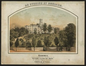 """An evening at Oakland."" Romance, composed & respectfully dedicated to the senior class of 1860, of Oakland Female Institute, by Thomas O'Neill. Lee & Walker, publisher. Prints and Photographs Division. Reproduction Number: LC-DIG-ppmsca-24842"