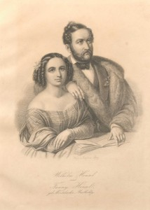 "Portrait of Fanny and Wilhelm Hensel, from ""The Mendelssohn family"" scrapbook, Library of Congress, Gertrude Clarke Whittall Foundation."