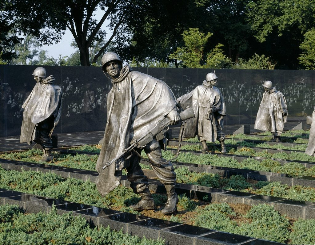 Korean War Veterans Memorial, Washington, D.C., by Carol M. Highsmith (ca. 1995), Highsmith Archive, Prints and Photographs Division, Library of Congress