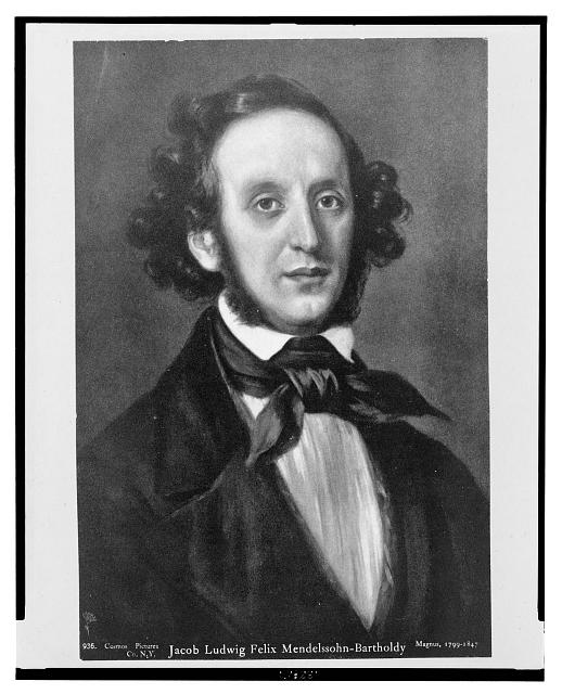 Jacob Ludwig Felix Mendelssohn-Bartholdy by Eduard Magnus. Prints & Photographs Division, Library of Congress.