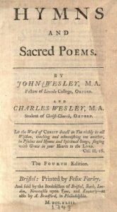 "John and Charles Wesley's collection ""Hymns and Sacred Poems"" (London, 1739). Internet Archive."