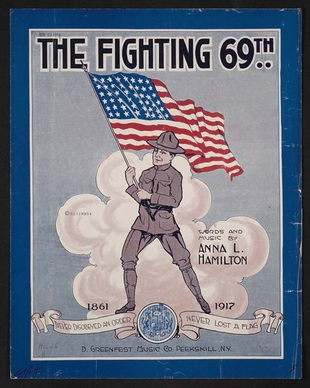 "Anna L. Hamilton. ""The Fighting 69th."" 1918: Peekskill, N.Y. D. Greenfest Music Co."