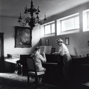 Erich and Luzi Korngold at the piano