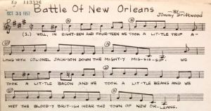 Battle of New Orleans by Jimmy Driftwood