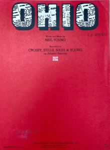 Sheet music cover for Ohio by Neil Young