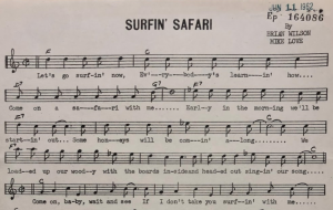Copyright deposit for Surfin' Safari by Brian Wilson and Mike Love