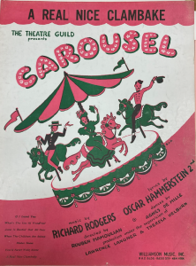 Sheet music cover for A Real Nice Clambake