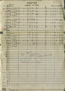 Manuscript page of full score