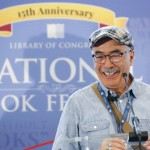 Juan Felipe Herrera makes his official debut as U.S. Poet Laureate during a press conference at the National Book Festival, September 5, 2015. Photo by Shawn Miller.