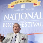 "Tom Brokaw speaks as part of a presentation on ""The Human Side of War"" during the National Book Festival, September 5, 2015. Photo by Shawn Miller."