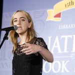 Mila Cuda, a teen poet from Get Lit Los Angeles, competes at the Poetry Slam during the National Book Festival, September 5, 2015. Photo by Shawn Miller.