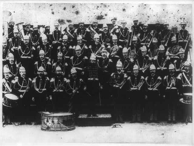 Photo of the The United States Marine Band with Bandleader John Philip Sousa