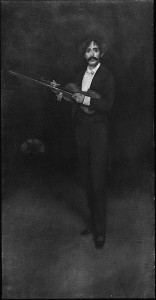 Violinist, full-length portrait with violin. Published between 1900 and 1912 by the Detroit Publishing Company. //hdl.loc.gov/loc.pnp/det.4a31303