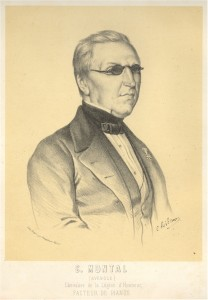 Photo of an engraving of Claude Montal