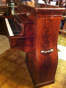 Photo of an early Montal upright piano
