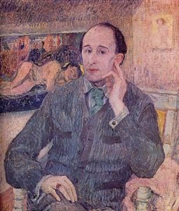 Portrait of Frederick Delius by his wife Jelka Rosen. Published in 1912. Public domain.