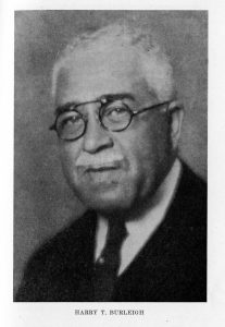 Photograph of Harry T. Burleigh, taken in 1936. Public Domain.