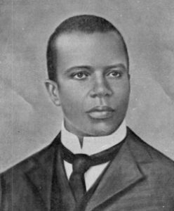 Photograph of Scott Joplin taken in approximately 1900. Public Domain.